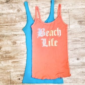 HOLLISTER Tank in Turquoise Teal & Beach Life Tank
